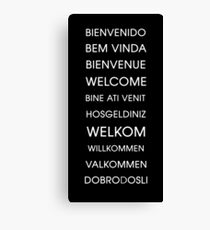 Welcome - Multiple Languages Canvas Print