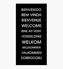 Welcome - Multiple Languages Photographic Print