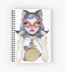 Kitty Cat Girl Spiral Notebook