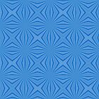 Hanakkah Blue Squiggly Squares by AuntieShoe
