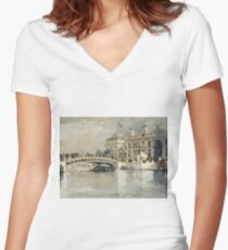 Childe Hassam - Columbian Exposition, Chicago Women's Fitted V-Neck T-Shirt
