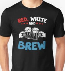 Red, White and Brew Unisex T-Shirt