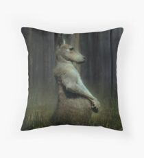 Portrait of a Kangaroo Throw Pillow