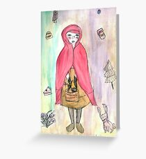 Little Red Riding Hood Art Greeting Card