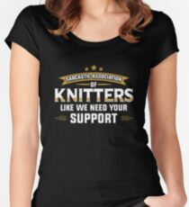 Sarcastic Association of Knitters Women's Fitted Scoop T-Shirt