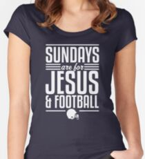 Sundays are for Jesus and Football Women's Fitted Scoop T-Shirt