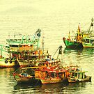Boats in the Harbour by cs-cookie
