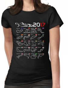F1 2017 calendar all circuits Womens Fitted T-Shirt