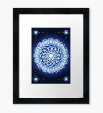 Abstract fractal flower Framed Print
