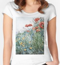 Childe Hassam - Poppies, Appledore Women's Fitted Scoop T-Shirt
