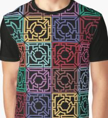 Maze Colorful Seamless Pattern Graphic T-Shirt