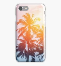 Beach sunset at the coast line iPhone Case/Skin