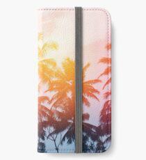 Strandsonnenuntergang an der Küstenlinie iPhone Flip-Case/Hülle/Klebefolie