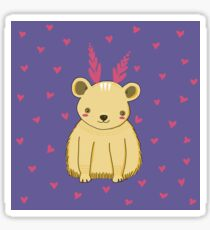 Cute Baby Bear Pattern Sticker