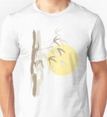 Oriental Zen Bamboo And Yellow Sunrise Unisex T-Shirt