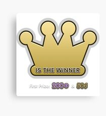 Glitch Overlay crown game winner someone else Canvas Print