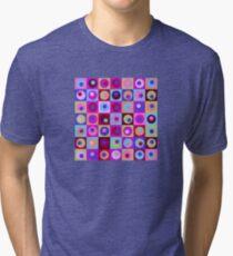 Circles and Squares Pattern 1 Tri-blend T-Shirt