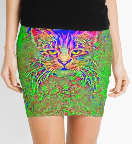 Polar aurora cat Mini Skirt