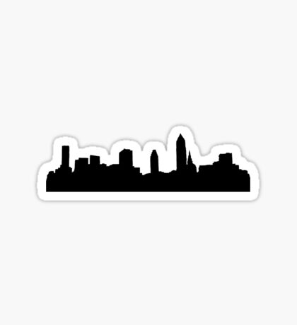 city - plain Sticker