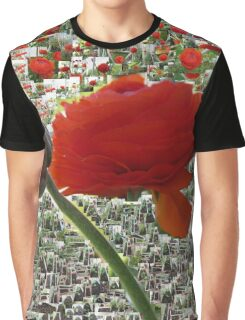 red flower growing history collage Graphic T-Shirt