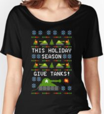 Ugly Christmas Sweater - This Holiday Season Give Tanks! Women's Relaxed Fit T-Shirt