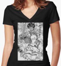Berserk - Manga Warlord Casca Women's Fitted V-Neck T-Shirt