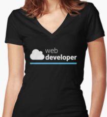 Web Developer Women's Fitted V-Neck T-Shirt