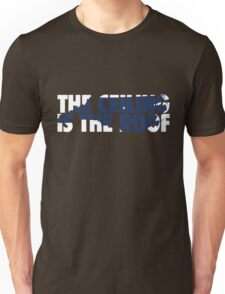 The Ceiling Is The Roof State of Mind (White/Dark Blue) Unisex T-Shirt
