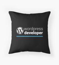 Wordpress Developer Throw Pillow