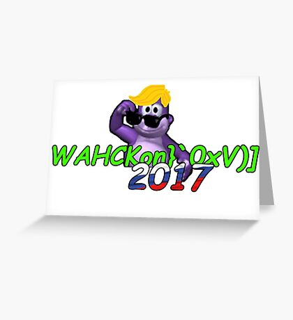 "WAHCKon['V""} Greeting Card"