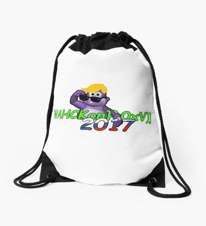 "WAHCKon['V""} Drawstring Bag"