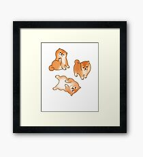 Shiba Inu Puppy Dog Lover Cute Cartoon Breed Gift Framed Print