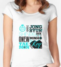 SHINEE Font Collage Women's Fitted Scoop T-Shirt