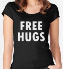 Free hugs! Black version Women's Fitted Scoop T-Shirt