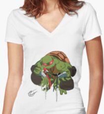 TMNT Raphael Women's Fitted V-Neck T-Shirt