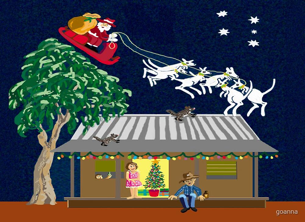Six white boomers - Santa in Australia by goanna