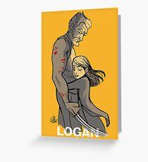 Logan Wolverine Greeting Card