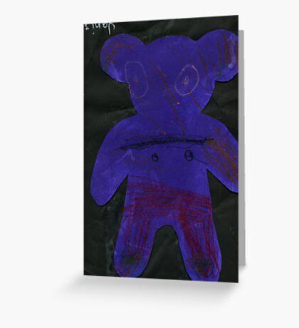 Bear (Janis 6 years old) Greeting Card