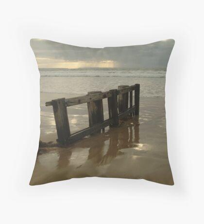 Pearl Morning Sunrise, Raffs Beach Throw Pillow