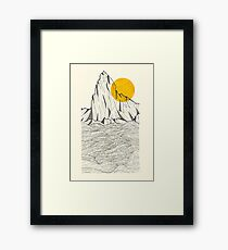 Sun Cliffs Framed Print