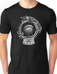 Magic Tattoo - Witch and Crystal Ball with Traditional Ornaments Unisex T-Shirt