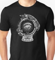Magic Tattoo - Witch and Crystal Ball with Traditional Ornaments T-Shirt