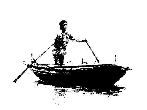 Lone Rower - Vietnam by GetCarter
