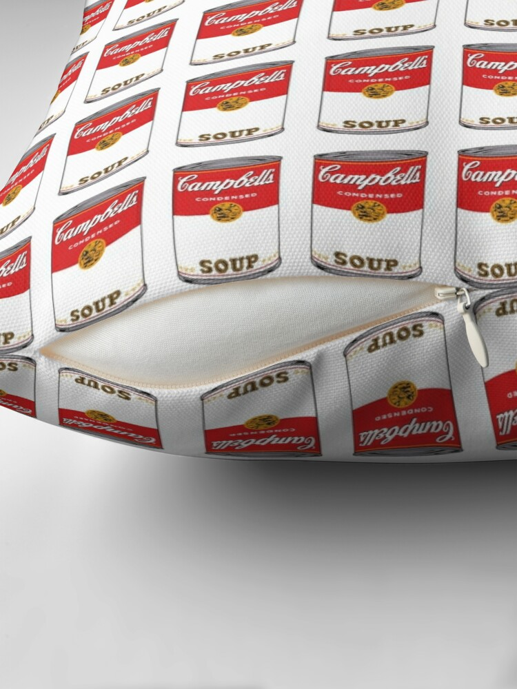 Alternate view of Campbell Soup Throw Pillow