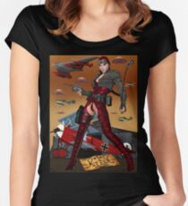 UFO Witch Red Baroness Women's Fitted Scoop T-Shirt