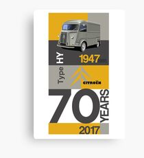 Citroen HY Van 70th Anniversary Graphic Artwork Canvas Print