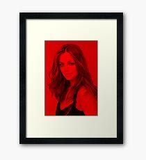 Eliza Dushku - Celebrity (Modeling Pose) Framed Print