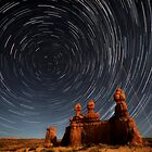 Star trails in Goblin valley by Robyn Lakeman