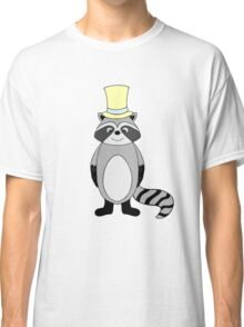 Illustration of raccoon in hat Classic T-Shirt