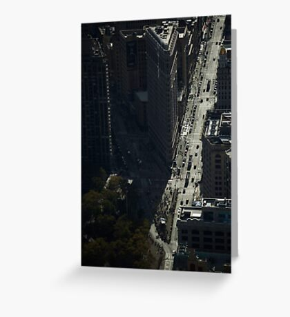 View of Flat Iron Greeting Card